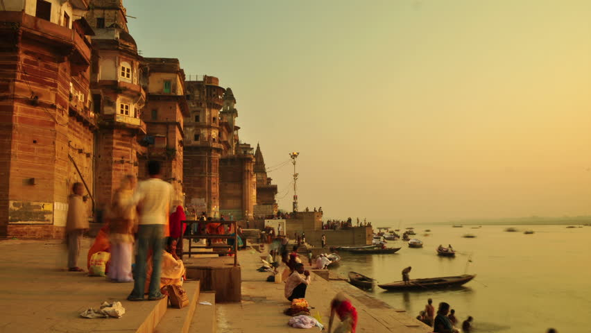 Varanasi is on the banks of the River Ganges