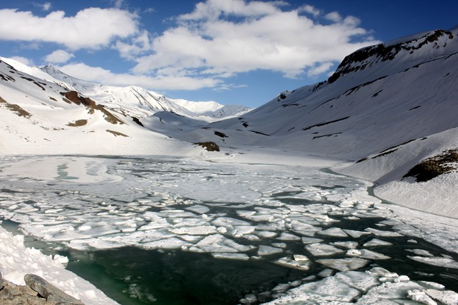 Frozen Lake At Himalaya
