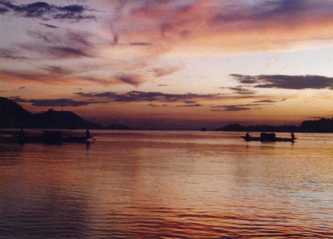 Brahmaputra River Sunset